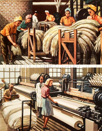 Manufacturing linen. Macmillan poster. Original poster for sale for £50 including VAT and postage within the UK.