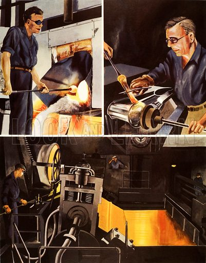 Making glass. Macmillan poster. Original poster for sale for £50 including VAT and postage within the UK.