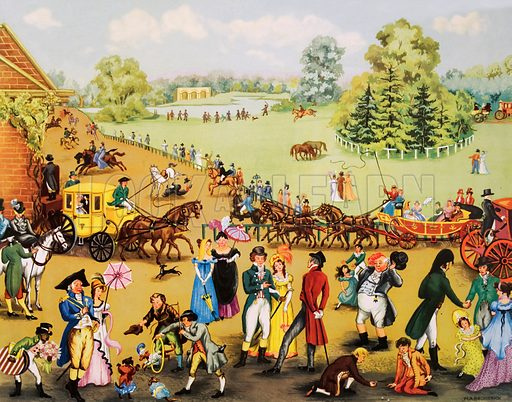 Hyde Park on a Sunday, 1804. Macmillan poster. Original poster for sale for £50 including VAT and postage within the UK.
