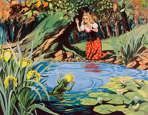 The frog prince. Macmillan poster. Original poster for sale for £50 including VAT and postage within the UK.