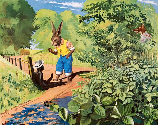 Brer rabbit and the tar-boy. Macmillan poster. Original poster for sale for £50 including VAT and postage within the UK.