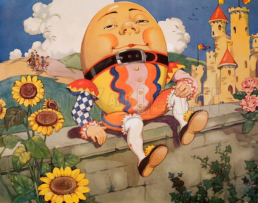 Humpty Dumpty. Macmillan poster. Original poster for sale for £50 including VAT and postage within the UK.