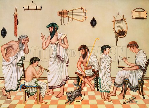 Greek boys at school. Macmillan poster. Original poster for sale for £50 including VAT and postage within the UK.