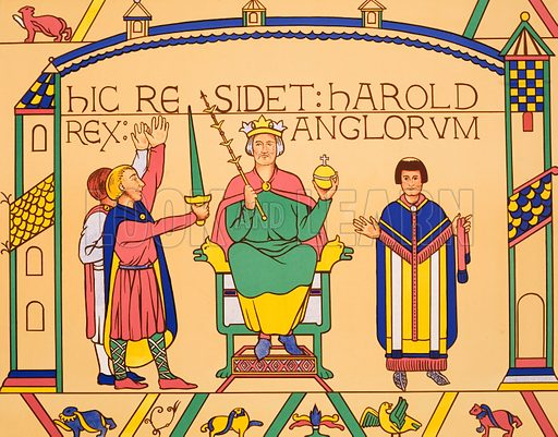 The coronation of Harold. Macmillan poster. Original poster for sale for £50 including VAT and postage within the UK.