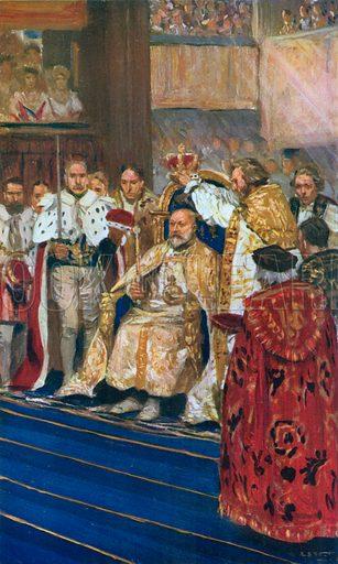 Coronation of King Edward VII, August 9th. 1902. Illustration for King Edward VII (Gresham, 1910).