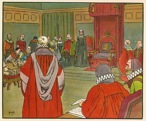 The trial of Mary Queen of Scots