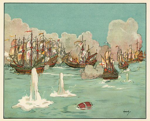The first day's fighting with the invincible Armada