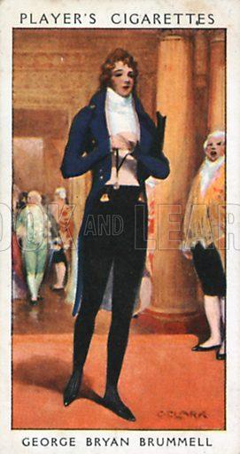 George Bryan Brummell. Illustration for John Player Dandies cigarette card series, early 20th century.