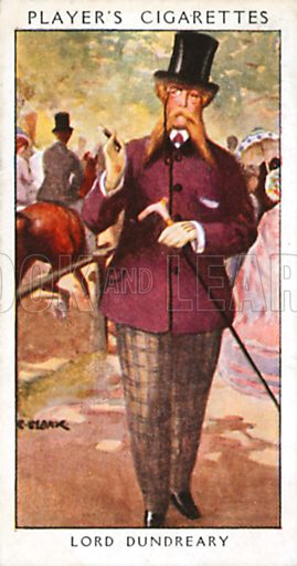 Lord Dundreary. Illustration for John Player Dandies cigarette card series, early 20th century.