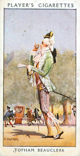 Jopham Beauclerk. Illustration for John Player Dandies cigarette card series, early 20th century.