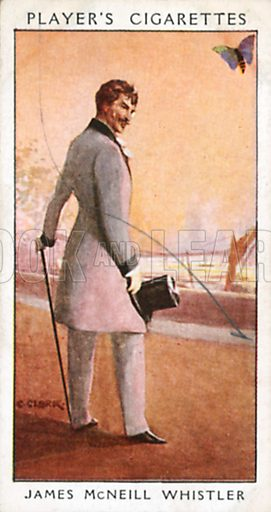 James McNeill Whistler. Illustration for John Player Dandies cigarette card series, early 20th century.