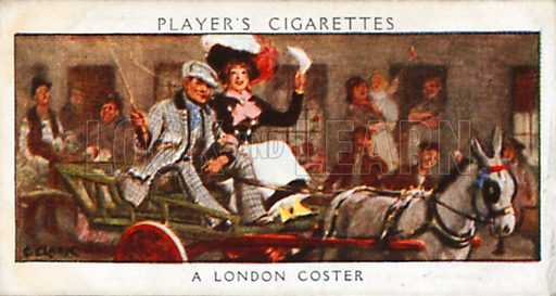A London Coster. Illustration for John Player Dandies cigarette card series, early 20th century.