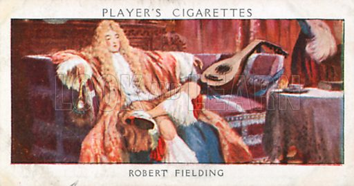 Robert Fielding. Illustration for John Player Dandies cigarette card series, early 20th century.