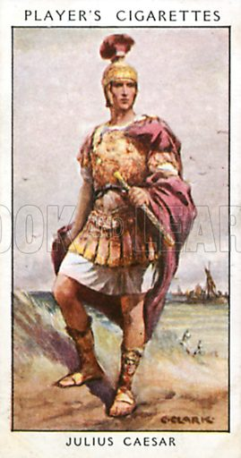Julius Caesar. Illustration for John Player Dandies cigarette card series, early 20th century.
