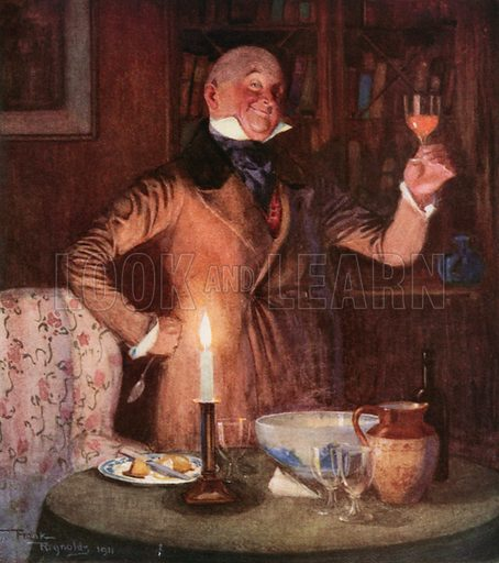 Mr. Micawber in his Element. Illustration for David Copperfield by Charles Dickens (Westminster Press, c 1910).