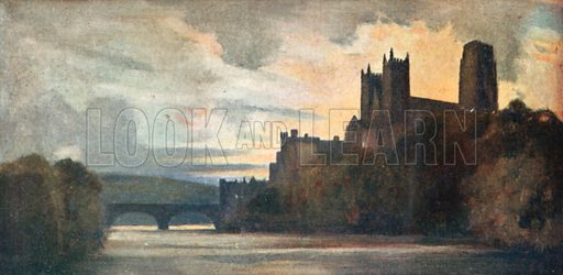 Durham Cathedral. Illustration for The Mighty Army by W M Letts (Wells Gardner, 1912).
