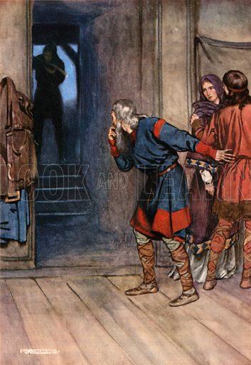 Polonius. Illustration for Shakespeare's Tragedy of Hamlet (Hodder & Stoughton, c 1920).