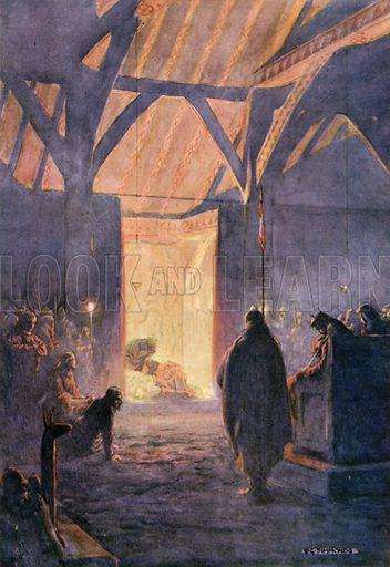 The Play. Illustration for Shakespeare's Tragedy of Hamlet (Hodder & Stoughton, c 1920).