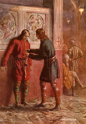 Hamlet and Guildenstern. Illustration for Shakespeare's Tragedy of Hamlet (Hodder & Stoughton, c 1920).
