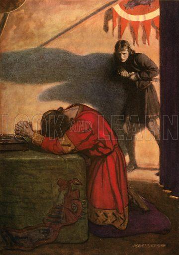 Now might I do it pat. Illustration for Shakespeare's Tragedy of Hamlet (Hodder & Stoughton, c 1920).