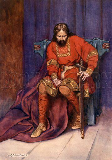 The King. Illustration for Shakespeare's Tragedy of Hamlet (Hodder & Stoughton, c 1920).