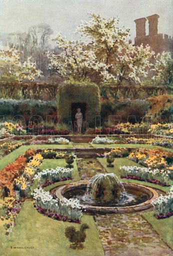 The Pond Garden. Illustration for Our Beautiful Homeland series (various, early 20th cent).