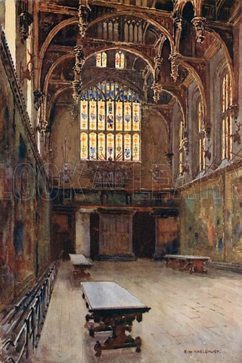 The Great Hall. Illustration for Our Beautiful Homeland series (various, early 20th cent).