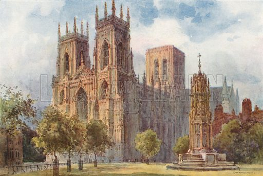 York Minster. Illustration for Our Beautiful Homeland series (various, early 20th cent).