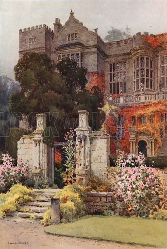 Fountains Hall. Illustration for Our Beautiful Homeland series (various, early 20th cent).