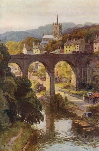 The Historical Old Town of Knaresborough. Illustration for Our Beautiful Homeland series (various, early 20th cent).