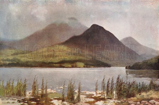 Bassenthwaite Lake and Skiddaw. Illustration for Our Beautiful Homeland series (various, early 20th cent).