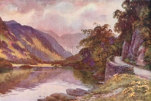 Ullswater. Illustration for Our Beautiful Homeland series (various, early 20th cent).