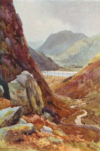 Kirkstone Pass and Brothers Water. Illustration for Our Beautiful Homeland series (various, early 20th cent).
