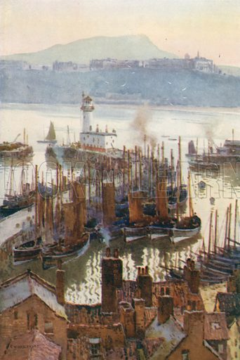 The Harbour from the Old Town. Illustration for Our Beautiful Homeland series (various, early 20th cent).