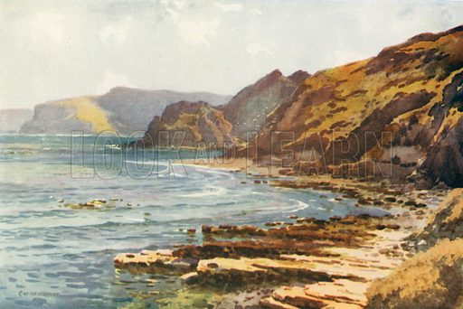 Carnelian Bay. Illustration for Our Beautiful Homeland series (various, early 20th cent).