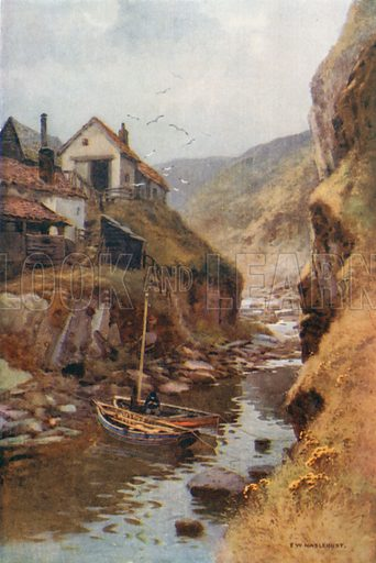 Scalby Beck. Illustration for Our Beautiful Homeland series (various, early 20th cent).