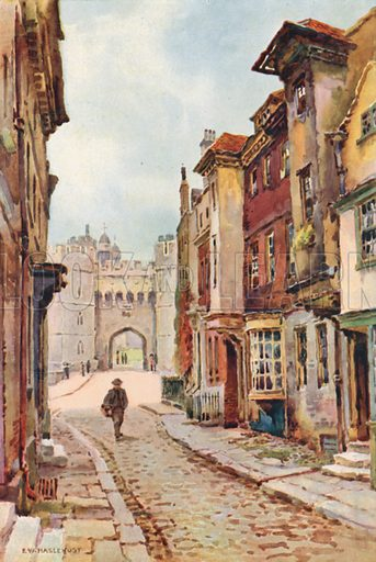 Nell Gwyn's House and Henry VIII Gateway. Illustration for Our Beautiful Homeland series (various, early 20th cent).