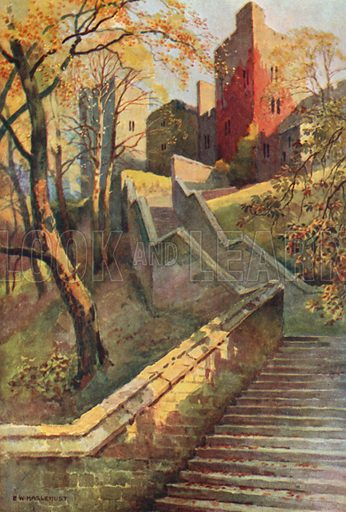 The Hundred Steps. Illustration for Our Beautiful Homeland series (various, early 20th cent).