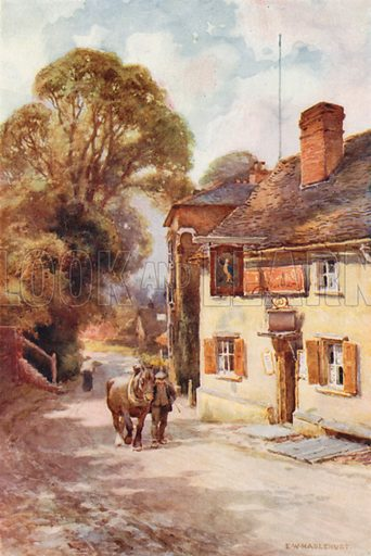 The Leather Bottle, Cobham. Illustration for Our Beautiful Homeland series (various, early 20th cent).