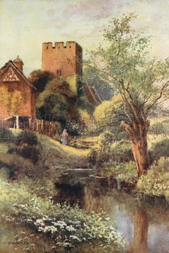 Monnington Church. Illustration for Our Beautiful Homeland series (various, early 20th cent).