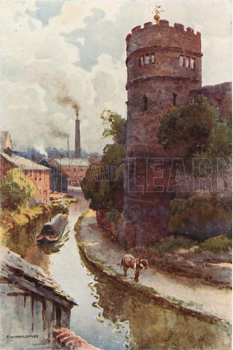 Phoenix Tower and Canal. Illustration for Our Beautiful Homeland series (various, early 20th cent).