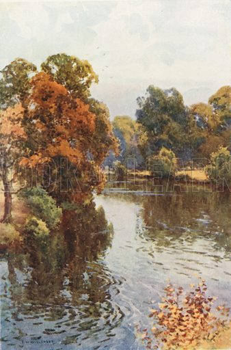 The Dee at Eaton. Illustration for Our Beautiful Homeland series (various, early 20th cent).