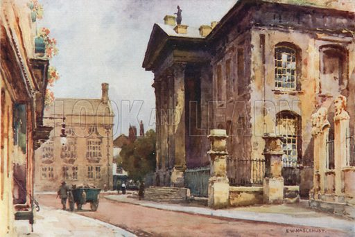 Old Clarendon Building, Broad Street. Illustration for Our Beautiful Homeland series (various, early 20th cent).