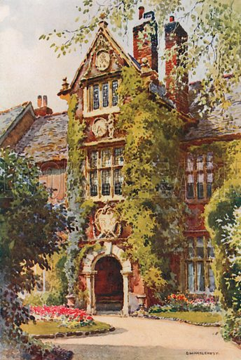 The Abbot's Lodge. Illustration for Our Beautiful Homeland series (various, early 20th cent).
