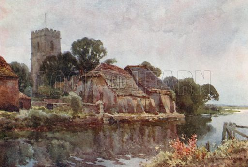 Wareham. Illustration for Our Beautiful Homeland series (various, early 20th cent).