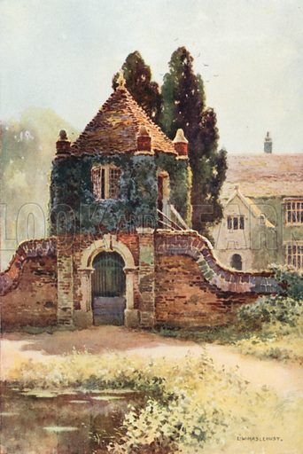 Gateway, Poxwell Manor House. Illustration for Our Beautiful Homeland series (various, early 20th cent).