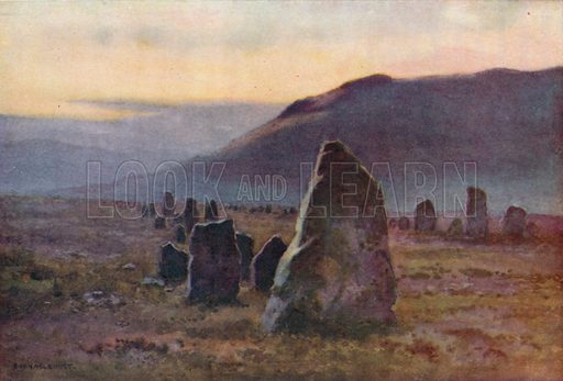 Stone Avenue, near Merrivale. Illustration for Our Beautiful Homeland series (various, early 20th cent).