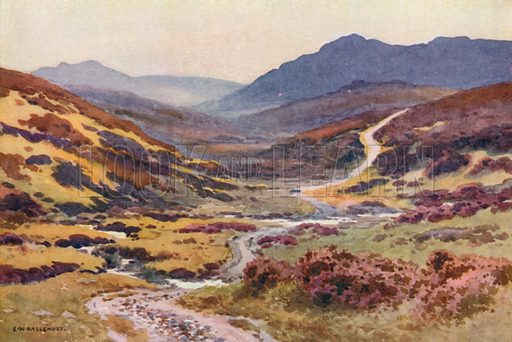 A Moorland Track, The Devil's Bridge. Illustration for Our Beautiful Homeland series (various, early 20th cent).
