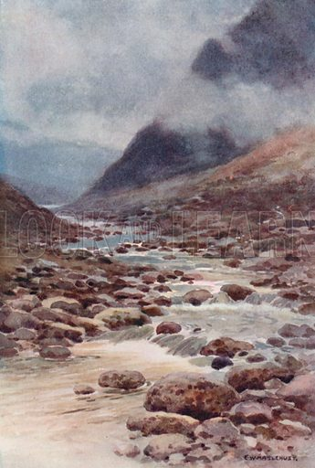 Tavy Cleave. Illustration for Our Beautiful Homeland series (various, early 20th cent).