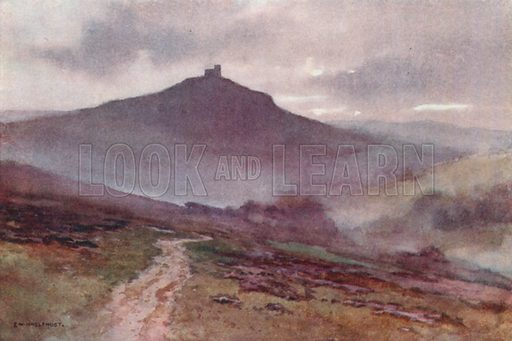 Brent Tor. Illustration for Our Beautiful Homeland series (various, early 20th cent).